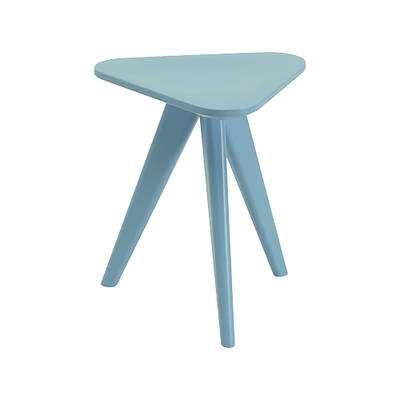 Petite Stool / Small Table - Dust Blue Lacquered - Image 1