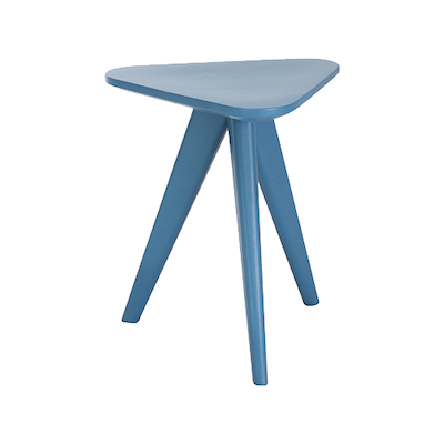 Petite Stool / Small Table - Blue Lacquered - Image 1