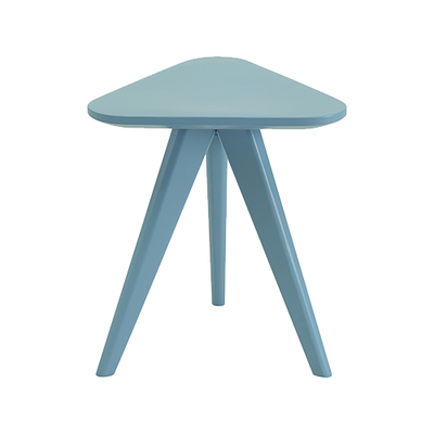Petite Stool / Small Table - Dust Blue Lacquered - Image 2