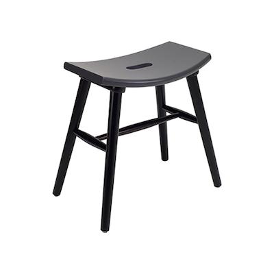 Hollis Stool - Black, Graphite Grey - Image 1