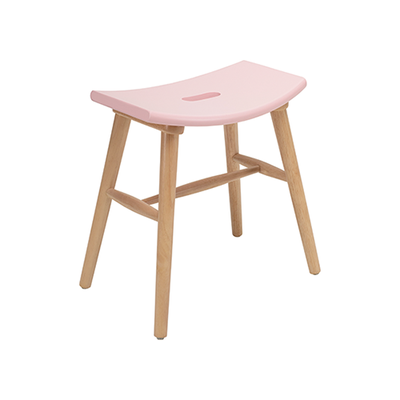 Hollis Stool - Natural, Orchid Pink - Image 1