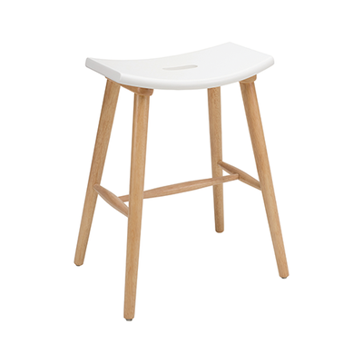 Hollis Counter Stool - Natural, White - Image 1