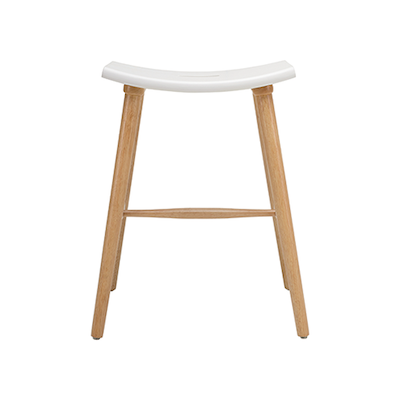 Hollis Counter Stool - Natural, White - Image 2