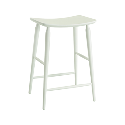 Lester Counter Stool - White Lacquered - Image 1