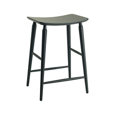 Lester Counter Stool - Charcoal Grey Lacquered - Image 1