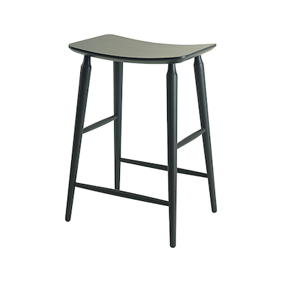 Lester Counter Stool - Charcoal Grey Lacquered - Image 2