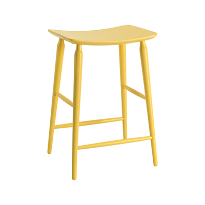 Lester Counter Stool - Dust Yellow Lacquered - Image 1