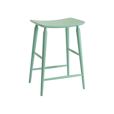 Lester Counter Stool - Light Green Lacquered - Image 1