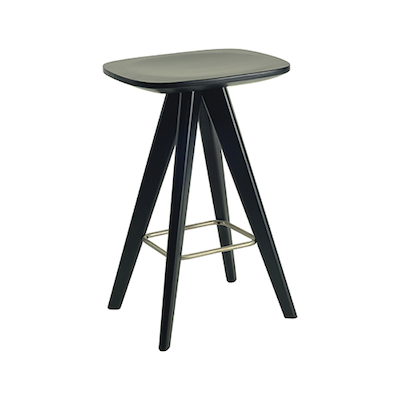 Petite Counter Stool - Black Ash Veneer - Image 1