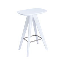 Petite Counter Stool - White Lacquered - Image 1