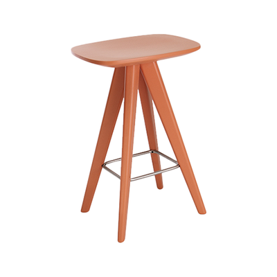 Petite Counter Stool - Orange Lacquered - Image 1