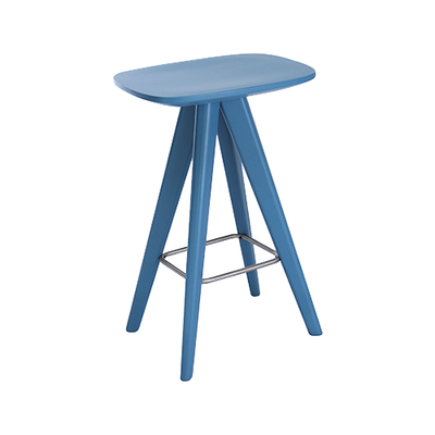 Petite Counter Stool - Blue Lacquered - Image 1