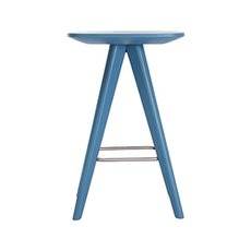Petite Counter Stool - Blue Lacquered - Image 2