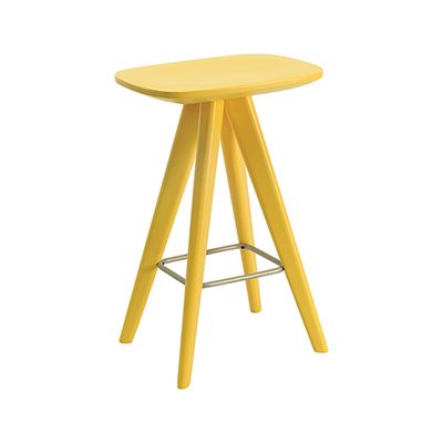 Petite Counter Stool - Dust Yellow Lacquered - Image 1