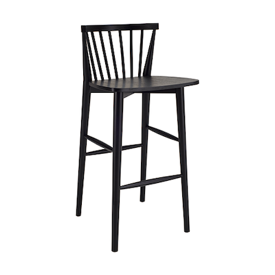 Becky Bar Chair - Black - Image 1