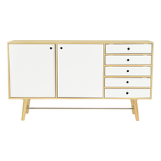 Axtell Sideboard - Oak Veneer, White Lacquered - Image 1