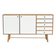 Axtell Sideboard - Walnut Veneer, White Lacquered - Image 1