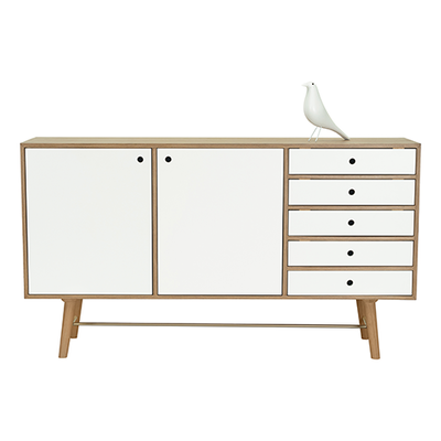 Axtell Sideboard - Walnut Veneer, White Lacquered - Image 2