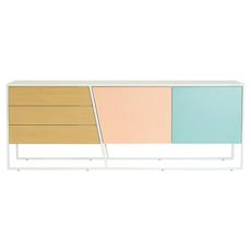 Oscar Sideboard - White Lacquered, Multicolour Lacquered, Matt White - Image 1