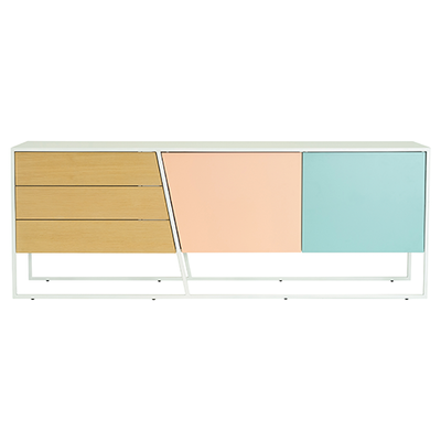 Oscar Sideboard - White Lacquered, Multicolour Lacquered, Matt White - Image 1