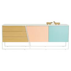 Oscar Sideboard - White Lacquered, Multicolour Lacquered, Matt White - Image 2