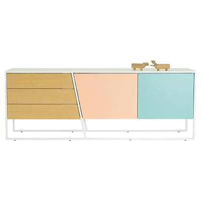 Odin Sideboard - White Lacquered, Multicolour Lacquered, Matt White - Image 2