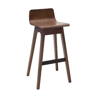 Eva Low Back Bar Chair - Walnut (Set of 2) - Image 1