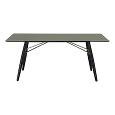 Farrell Rectangular 8 Seater Table - Black Ash Veneer, Black - Image 1