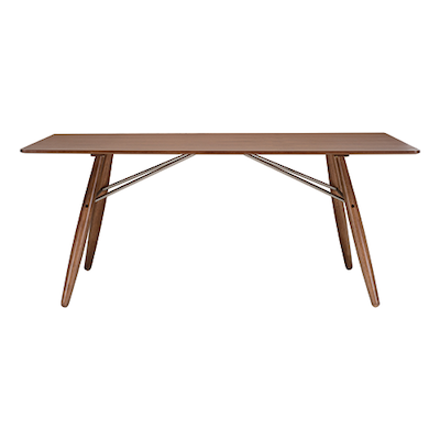 Farrell Dining Table 1.8m - Walnut Veneer, Walnut - Image 1