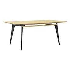 Graham 8 Seater Table - Oak Veneer, Matt Black - Image 2