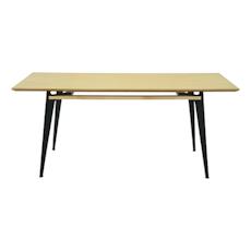 Graham 8 Seater Table - Oak Veneer, Matt Black - Image 1