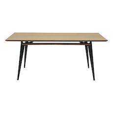 Graham 8 Seater Table - Walnut Veneer, Matt Black - Image 1