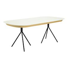 Otis Fix Top 8 Seater Table - White Lacquered, Matt Black - Image 1