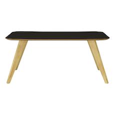Ryder 8 Seater Rectangular Table - Black Ash Veneer, Oak - Image 1