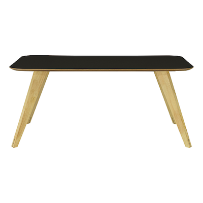 Ryder Dining Table 1.8m - Black Ash Veneer, Oak - Image 1