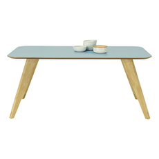Ryder 8 Seater Rectangular Table - Dust Blue Lacquered, Oak - Image 2