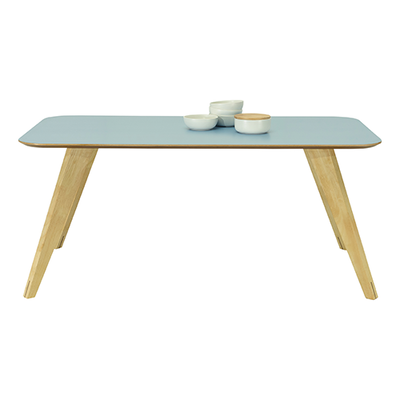 Ryder Dining Table 1.8m - Dust Blue Lacquered, Oak - Image 2