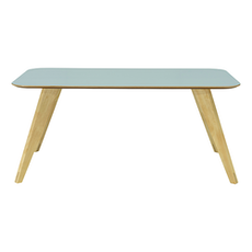 Ryder 8 Seater Rectangular Table - Dust Blue Lacquered, Oak - Image 1