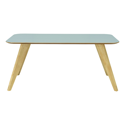 Ryder Dining Table 1.8m - Dust Blue Lacquered, Oak - Image 1