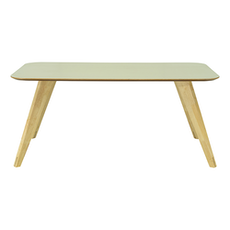 Ryder 8 Seater Rectangular Table - Dust Green Lacquered, Oak - Image 1