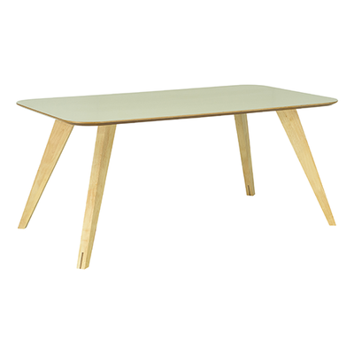 Ryder Dining Table 1.8m - Dust Green Lacquered, Oak - Image 2