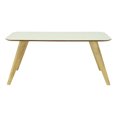 Ryder Dining Table 1.8m - White Lacquered, Oak - Image 1