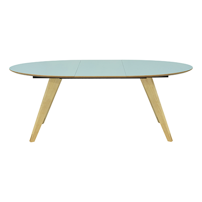 Ryder Extendable Dining Table 1.5m - Dust Blue Lacquered, Oak - Image 2