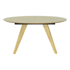 Ryder Oval 8 Seater Extandable Table - Dust Brown Lacquered, Oak - Image 1