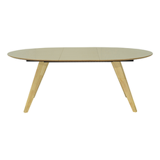 Ryder Oval 8 Seater Extandable Table - Dust Brown Lacquered, Oak - Image 2
