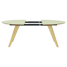 Ryder Oval 8 Seater Extandable Table - Dust Green Lacquered, Oak - Image 2