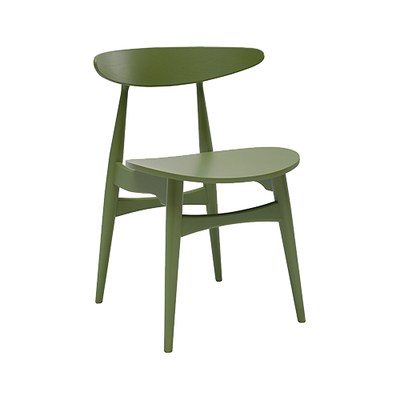 Tessa Dining Chair - Green Lacquered (Set of 2) - Image 1