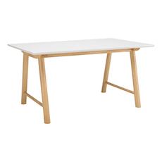 Earl 6 seater Table - White, Oak - Image 1