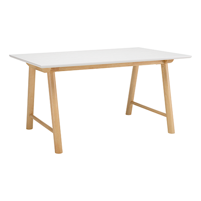 Earl Dining Table 1.5m - White, Oak - Image 1