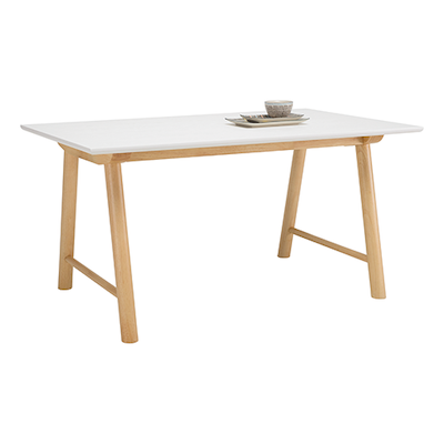 Earl Dining Table 1.5m - White, Oak - Image 2